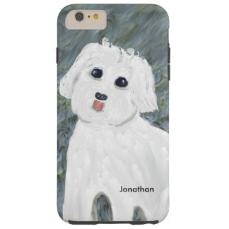 iPhone6/6s Plus Case with White Dog Painting
