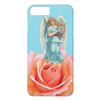 IPHONE7 CHRISTMAS ANGEL ON PINK ROSE SPECIAL iPhone 8 PLUS/7 PLUS CASE