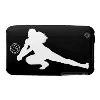 iPhone 3 Case-Mate Dig Silhouette White on Black