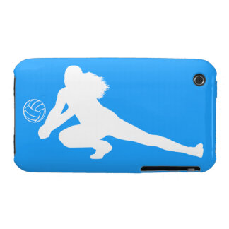 iPhone 3 Case-Mate Dig Silhouette White on Blue iPhone 3 Case-Mate Cases