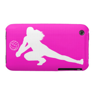 iPhone 3 Case-Mate Dig Silhouette White on Pink iPhone 3 Cover