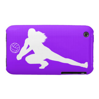iPhone 3 Case-Mate Dig Silhouette White on Purple iPhone 3 Covers