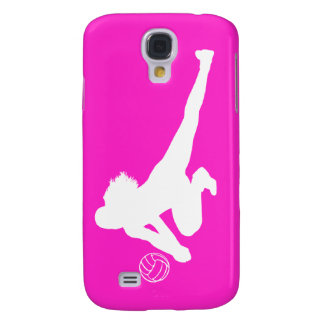 iPhone 3 Speck Case Dig Silhouette White on Pink Samsung Galaxy S4 Case