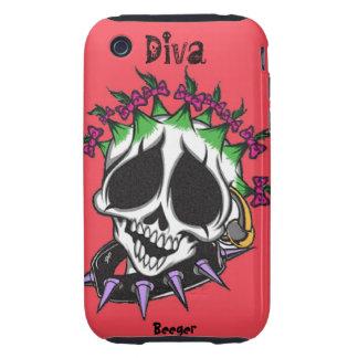 Iphone 3 tough - Diva Glam Skull Tough iPhone 3 Cases