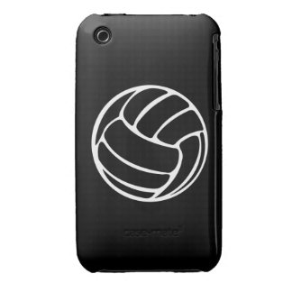 iPhone 3 Volleyball White on Black iPhone 3 Covers