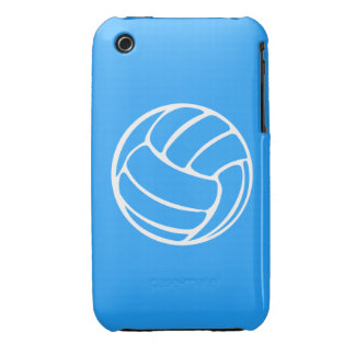 iPhone 3 Volleyball White on Blue iPhone 3 Cases