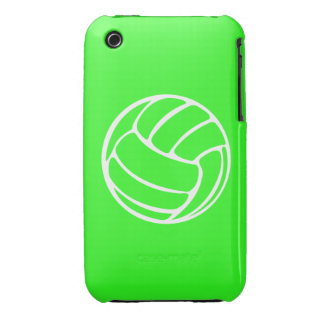 iPhone 3 Volleyball White on Green iPhone 3 Case