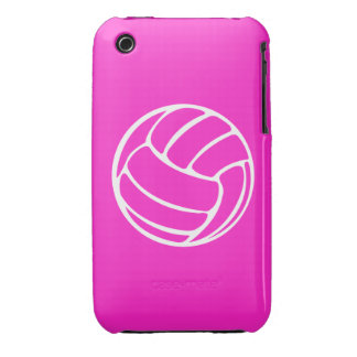 iPhone 3 Volleyball White on Pink iPhone 3 Case