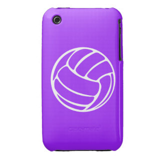 iPhone 3 Volleyball White on Purple Case-Mate iPhone 3 Case
