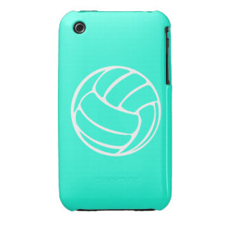 iPhone 3 Volleyball White on Turquoise Case-Mate iPhone 3 Cases