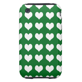 iPhone 3G/3GS Case-mate Tough Case Green Hearts iPhone 3 Tough Case