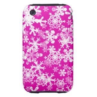 iPhone 3G/3GS Case-mate Tough Case Pink Snowflakes iPhone 3 Tough Case