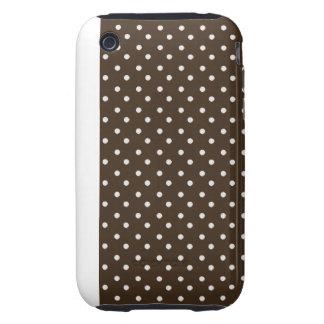 iPhone 3G/3GS Case-mate Tough Case White Polka Dot iPhone 3 Tough Case