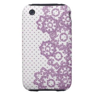 iPhone 3G/3GS Case Polka Dot and Flowers iPhone 3 Tough Covers
