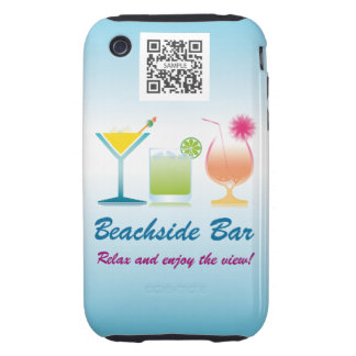 iPhone 3G/3Gs Case Template Beachside Bar Tough iPhone 3 Cases
