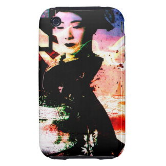 "iphone 3G/3Gs covering tough ""mysterious geisha "" Tough iPhone 3 Case"