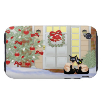 iPhone 3G/3GS Siamese Cat Christmas Case