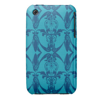 iPhone 3G Blue Damask Pattern Barely There iPhone 3 Case-Mate Case