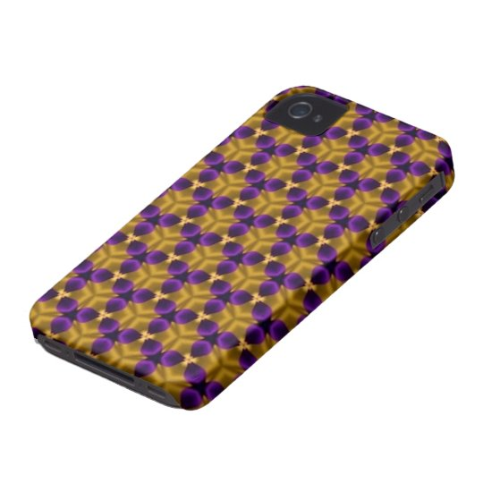 iPhone 4/4S Case - Purple & Gold Triquetras