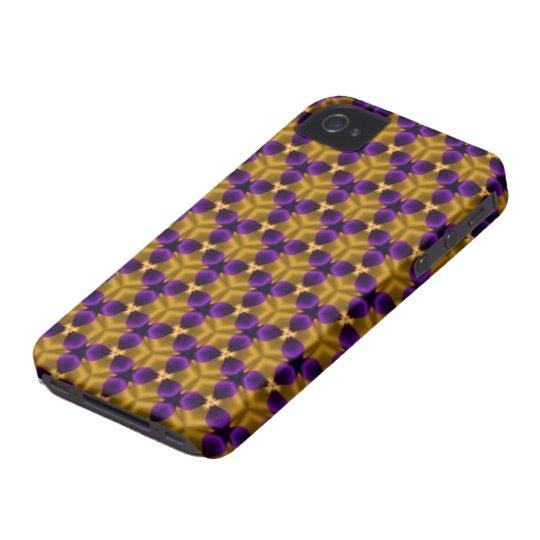iPhone 4/4S Case - Purple & Gold Triquetras