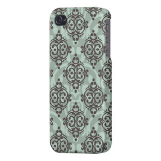 iphone 4/4s case with damask pattern