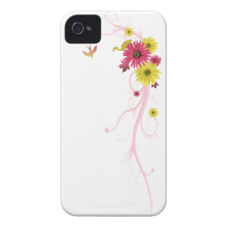 iPhone 4/4S Cover Daisies Vector Floral
