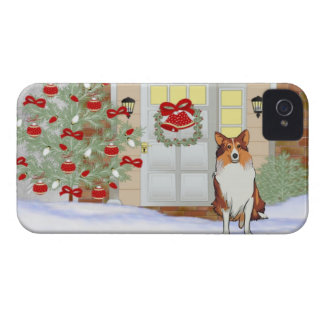 iPhone 4/4S Doggie Christmas Case iPhone 4 Case-Mate Case