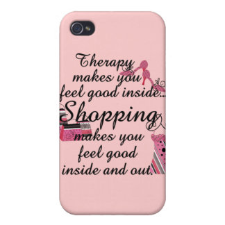 iPhone 4 4S Shopping Therapy Case iPhone 4 Case