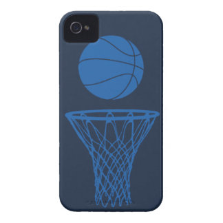 iPhone 4 Basketball Silhouette Maverick Blue Dark iPhone 4 Case
