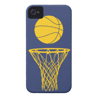 iPhone 4 Basketball Silhouette Pacers Blue iPhone 4 Cases