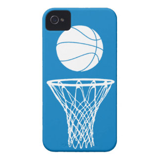 iPhone 4 Basketball Silhouette White onTeal iPhone 4 Case