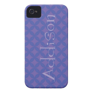 iPhone 4 Blue Flower Shell with Name iPhone 4 Cases