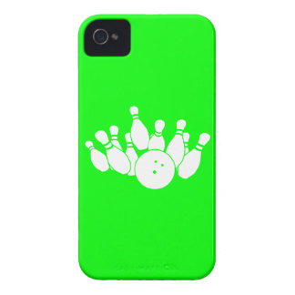 iPhone 4 Bowling Silhouette Green iPhone 4 Case