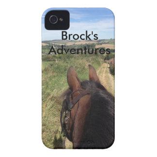 IPhone 4 case - Brock's Adventures with text