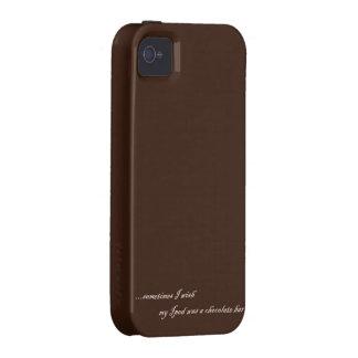 Iphone 4 case chocolate