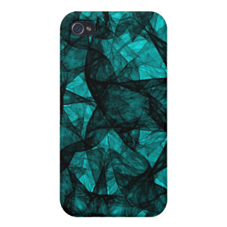 iPhone 4 Case fractal art black and green