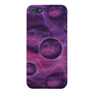 iPhone 4 Case fractal art black and pink