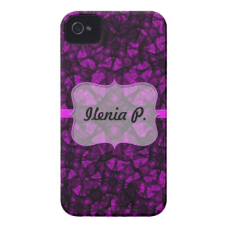iPhone 4 Case fractal art black and pink