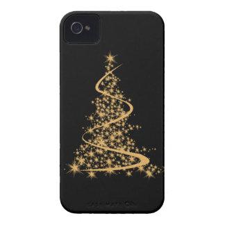 iPhone 4 Case Glitzy Gold Xmas