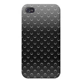 iPhone 4 Case glossy metal grid