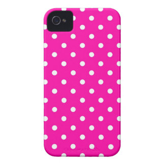 iPhone 4 Case Hot Pink Polka Dot