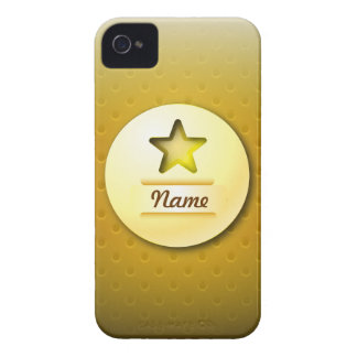 iPhone 4 Case icon gold star