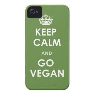 iPhone 4 case Keep Calm and go Vegan green