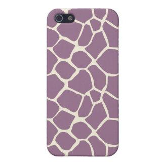 iPhone 4 Case Lavender Giraffe Pattern (custom)