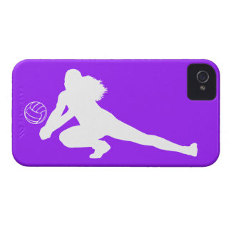 iPhone 4 Case-Mate Dig Silhouette White on Purple