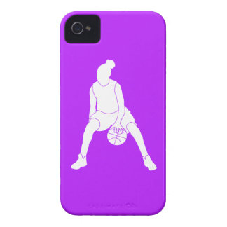 iPhone 4 Case-Mate Dribble Silhouette Purple