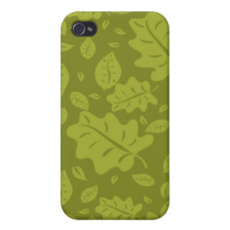 iPhone 4 Case Pattern green leaves