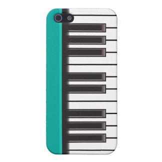 iPhone 4 Case - Piano Keys on Aqua
