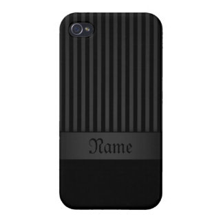 iPhone 4 Case Savvy Black Background with Stripes