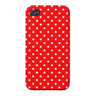 iPhone 4 Case Savvy Hot Red Polka Dot